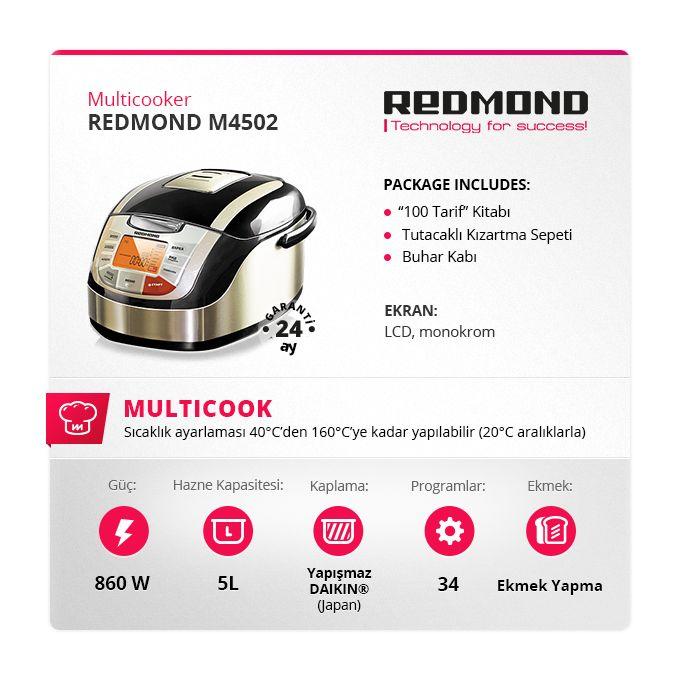 RMC-M4502 ileri çok yönlü mutfak aletleri tasarlayan Redmond tarafından sunulan bir başka yeniliktir. Cihaz en zorlu tüketicilerin gereksinimlerini karşılamak ve modern yaşam tarzının en üst düzeyine hitap edebilmek için hayata geçirilmiştir.  #redmond #multicooker #pişirici #pinit #recipe