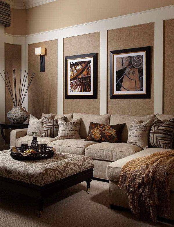 Beige color in living room