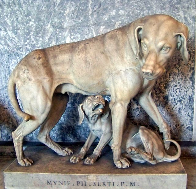 Dog Family in Marble:  Vatican Museums