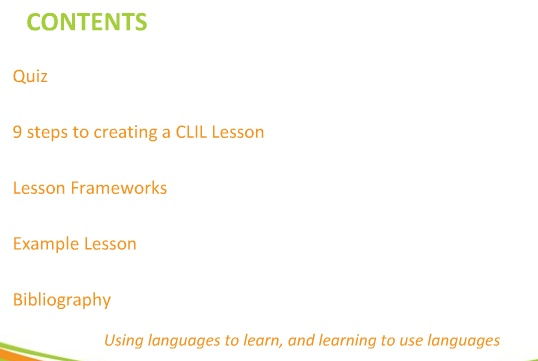 CLIL and lesson planning 9 steps