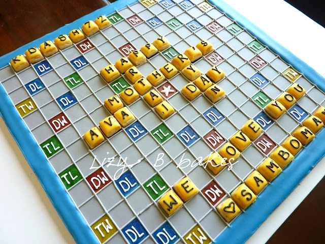 I'm so gonna make this for Armond...he LOVES to play words with friends.  Lizy B: Tutorial - Sugar Cookie Scrabble Board - Part 1