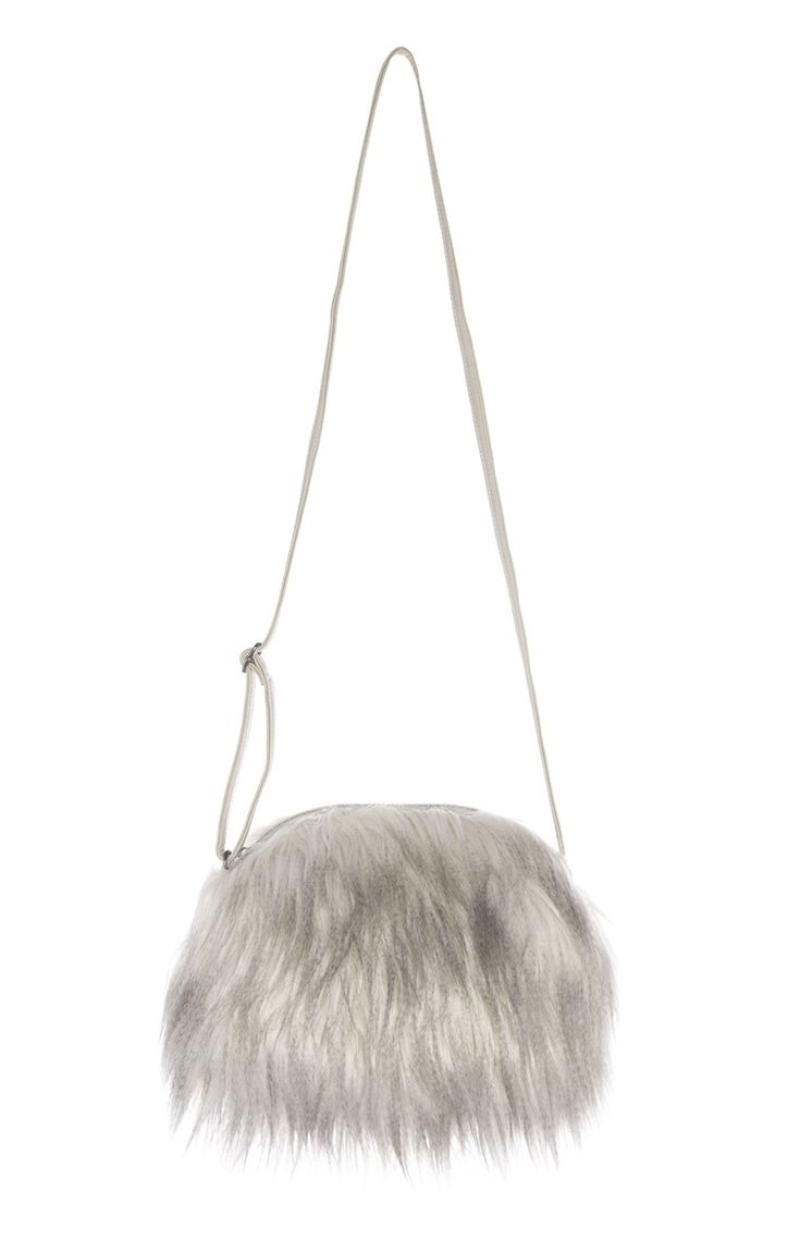 Primark london fashion week day in the life primark womenswear - The Primark Grey Faux Fur Cross Body Bag We Have All Been Waiting For