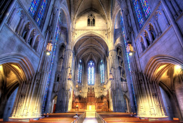 Non-denominational Heinz Chapel at the University of Pittsburgh