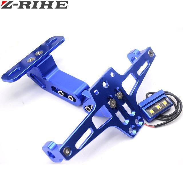 Motorcycle Parts Universal motorbike Adjustable Angle Aluminum License Number Plate Frame Holder Bracket For Honda Yamaha SUZUKI