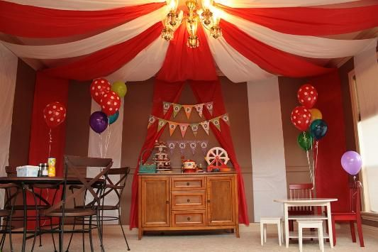 Circus tent in your home