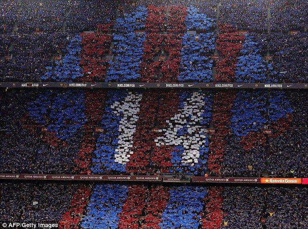 A red and blue Blaugrana shirt with Cruyff's No 14 on the back was also depicted by the Ba...
