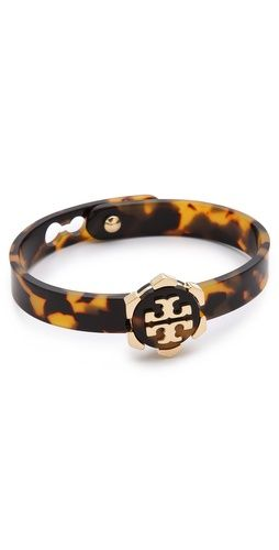 Tory Burch tortoiseshell bracelet.