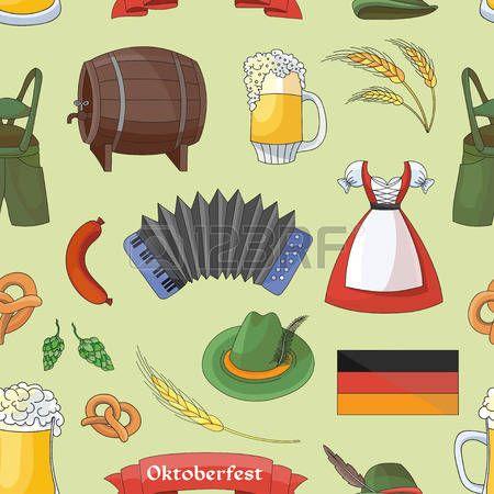 Alemania, modelo de elementos de la colección. el festival Oktoberfest. Ilustración del vector, EPS 10