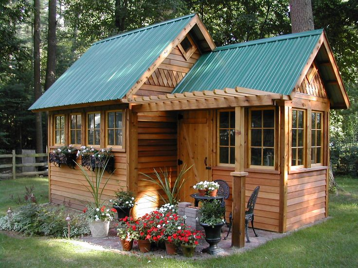 Garden shed (back side could have roll up garage door in the big room)
