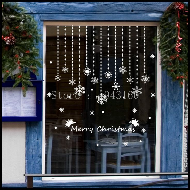 Cheap stickers angel, Buy Quality christmas clown directly from China sticker brush Suppliers: 	White windows sticker star design frozen snow winter wall art decals home shop decoration maison christmas windows stic
