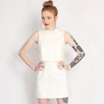 Lavish Alice White Alice Layered Mini Dress www.rokii.co.uk
