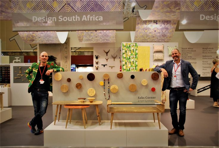 Designer and owner of Saks Corner on the right and on the left Errol Dundas Saks Corner Sales Manager @maisonetobet 2017.