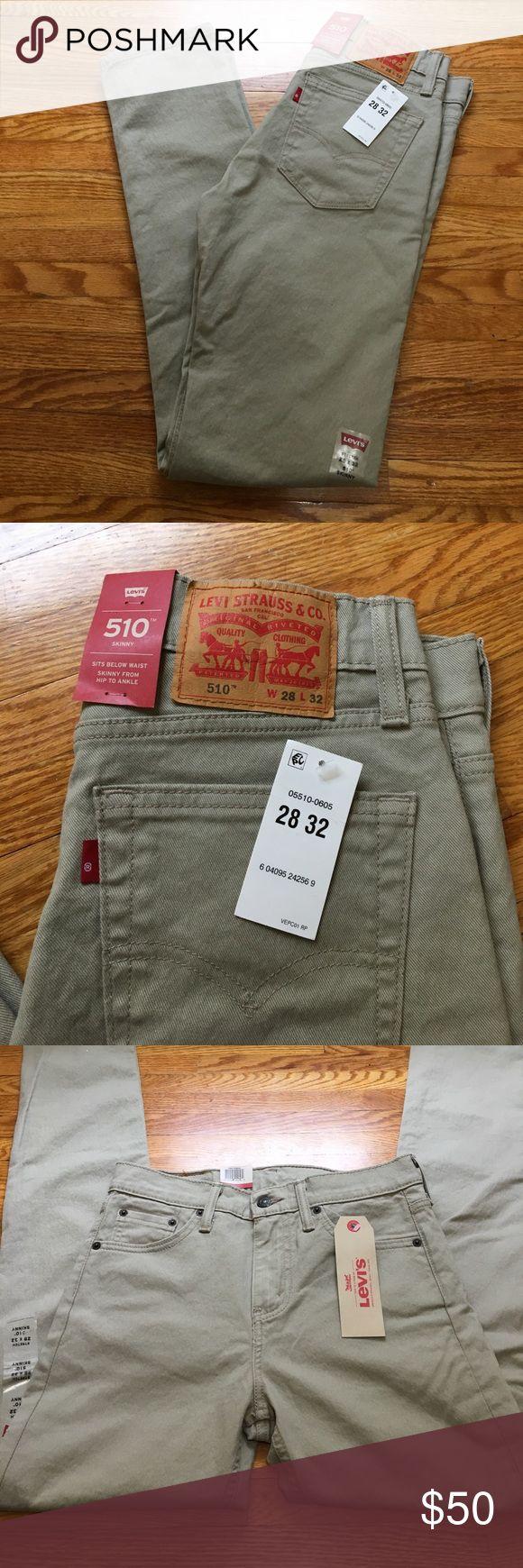 NWT Men's Levi's 510 Skinny Stretch Jeans New with tags Levi's Khaki skinny jeans with stretch material. 28x32. Levi's Jeans Skinny