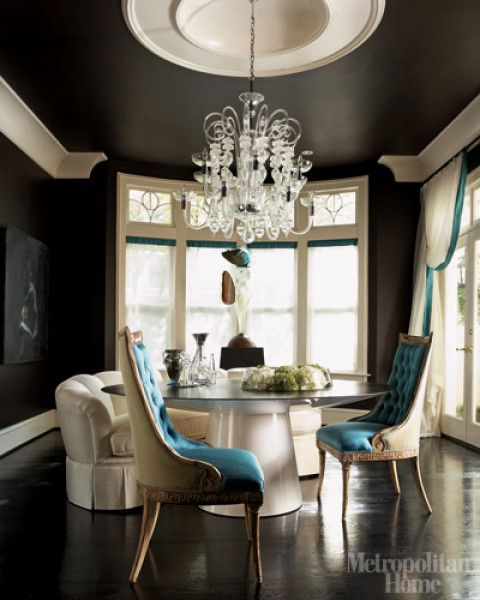 Dining Room Colors With Wood Trim: 27 Best White Walls/colored Trim Images On Pinterest