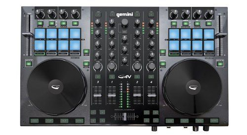 Gemini Dj G4v Dj Controller 4 Channel Midi Controller With Soundcard, 2015 Amazon Top Rated Mixers #MusicalInstruments