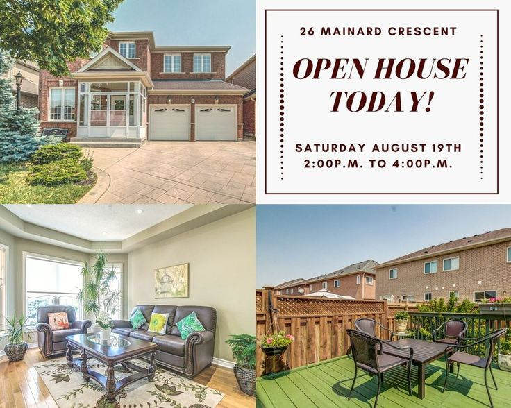 **OPEN HOUSE TODAY** Saturday August 19th 2pm to 4pm!!  Come Join Us Today to See All This Beautiful Home and All It Has To Offer. Make this Your Perfect Family Home to Share Special Moments and Create Lifelong Memories. We Hope To See You All There!!!   Check out our virtual tour and floor plans! https://youriguide.com/26_mainard_crescent_brampton_on   Want even more information about this home, check out our website, www.anthonyfialho.com!   #DontFretWithTheFialhoRealEsateTeam #OpenHouse