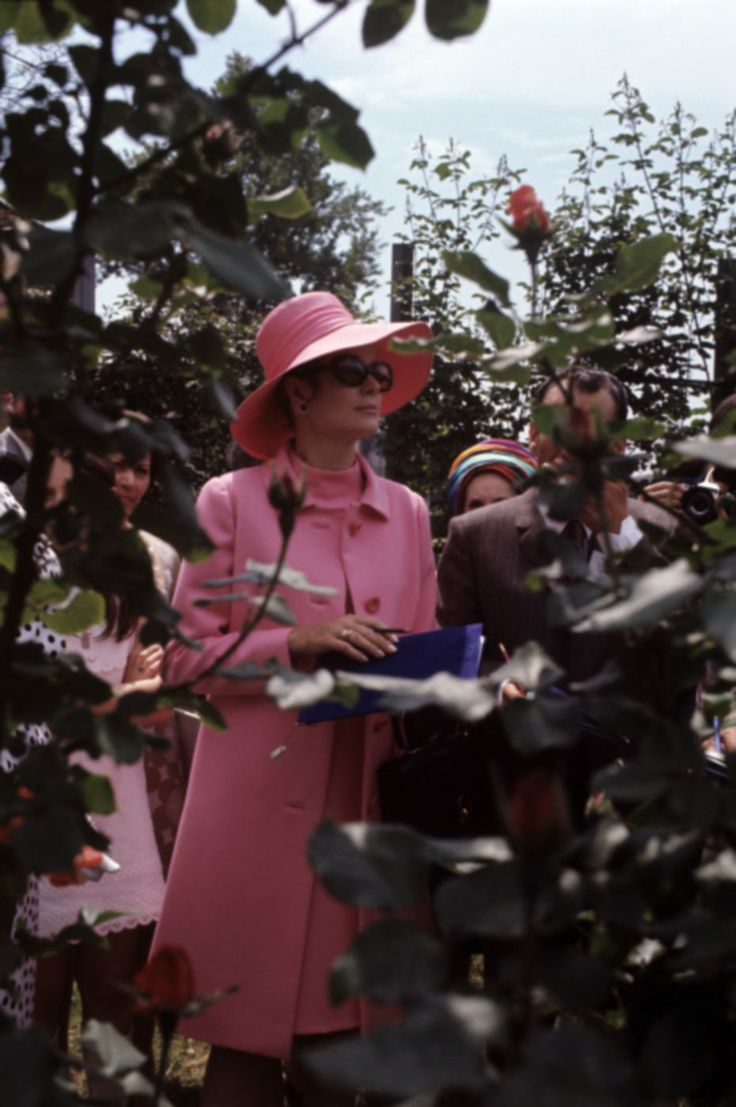 Princess Grace of Monaco photographed while visiting the Fifth Rose Show. Monza (Italy), May 1970.  http://graceandfamily.tumblr.com/