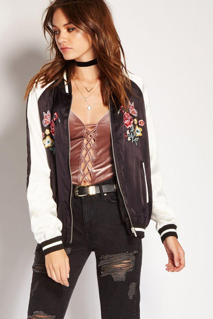 Floral Satin Souvenir Jacket