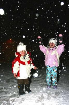 children playing in the snow - Google Search