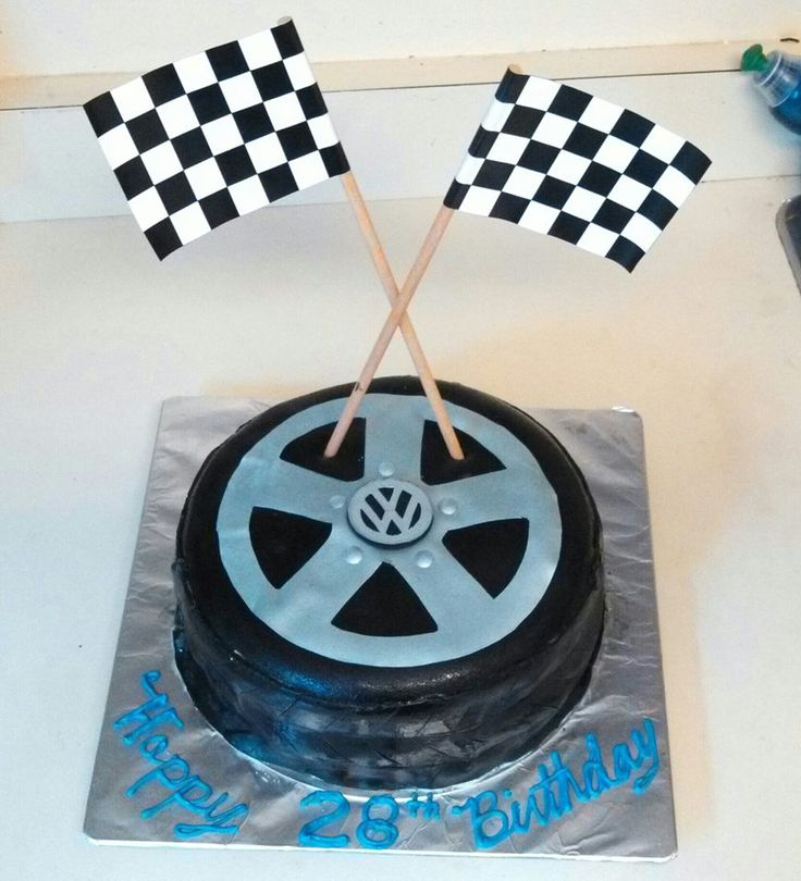 VW tire cake I made for the bf's birthday.