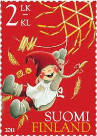 Kaarina Toivanen, Finnish Christmas stamp, 2011. Seemed like one I should repin for obvious reasons.