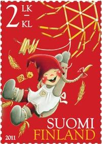 Kaarina Toivanen, second class Christmas stamp, 2011