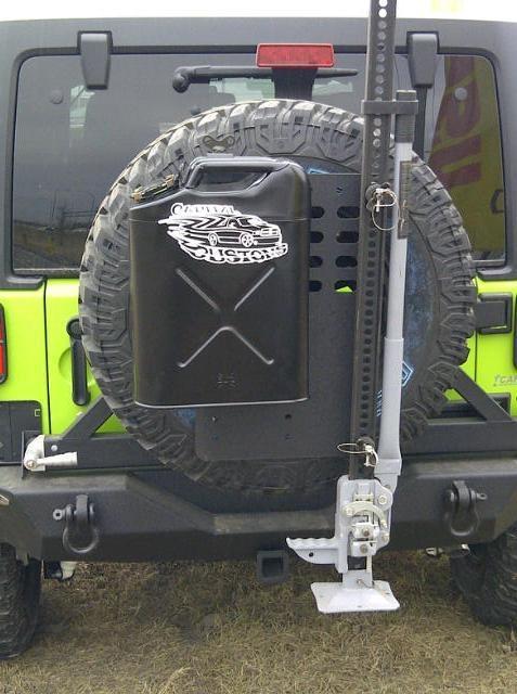 Capital Dodge Edmonton >> Rear XRC bumper w/tire carrier, Custom gas can | Capital Customs | Pinterest