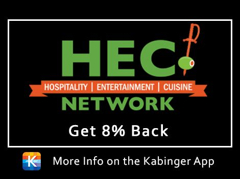 Welcome aboard HEC! Sign up for their business networking membership and get 8% back.
