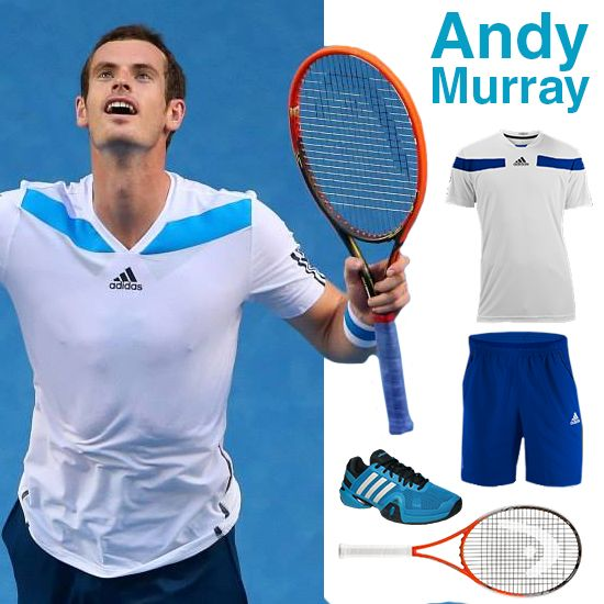 Andy Murray's @Tony Finnemore Open Adidas kit plus Head racquet. Vote for this as your favorite #ausopen #fashion to win a $50 gift card to @Anne Langendorfer Sports