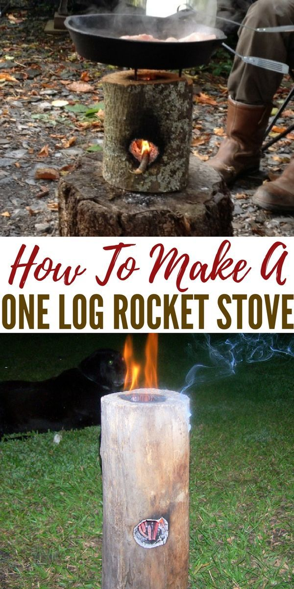How To Make A One Log Rocket Stove - This is a good twist to a Swedish candle and once its been used as a rocket stove to many times you can just use the whole log to place on the fire.