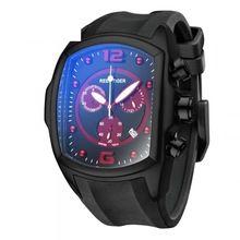 Reef tigre / RT hombres del deporte de relojes reloj de cuarzo con cronógrafo y fecha gran Dial negro de acero súper luminoso cronómetro RGA3068(China (Mainland))