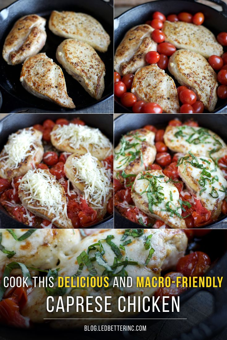 Believe it or not, with just 4 main ingredients and 30 minutes, you can make this super delicious, and incredibly healthy Caprese Chicken!