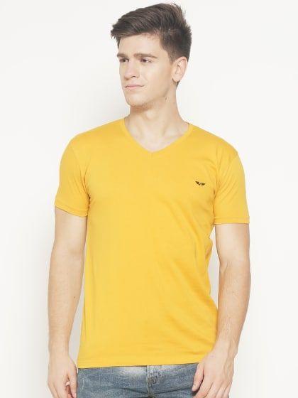 0638e859295 Defender - Yellow Colour T-Shirt Buy T Shirts Online