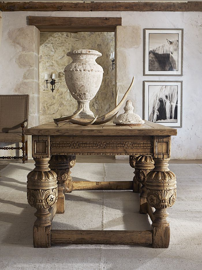 Ralph Lauren Home. Lodge, cabin, mountain, Tuscan, farmhouse table, room inspiration, style
