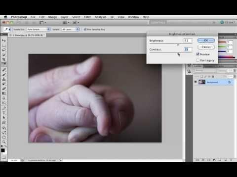Grunderna i Photoshop CS5 - 08 Fixa enkla ljusproblem - Brightnes/Contrast
