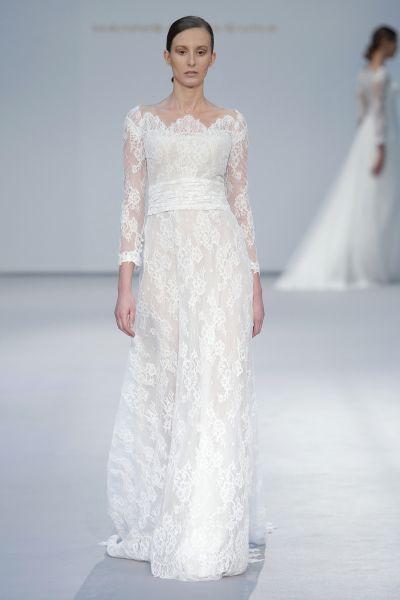 Vestidos de novia con cuello barco 2017. ¡Elegancia pura! Image: 6