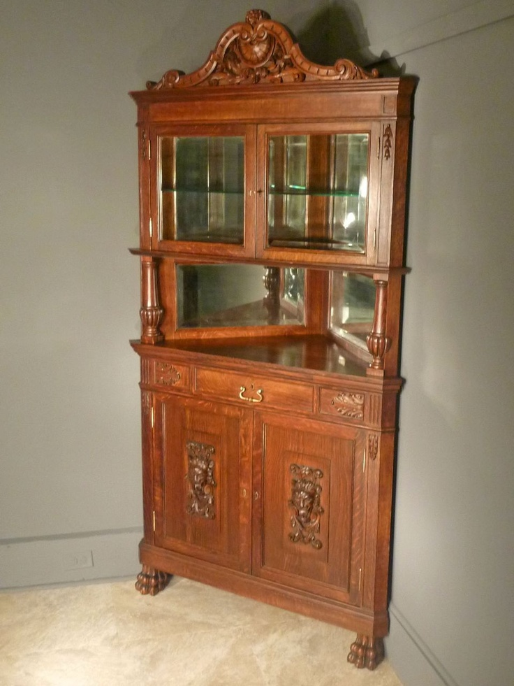 oak china cabinet 1000 images about corner china hutch on 23838