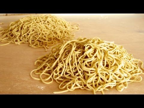 How to make Ramen noodles from scratch: alkaline noodles recipe - YouTube