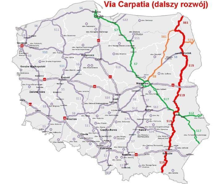 Via Carpatia Mapa Szukaj W Google