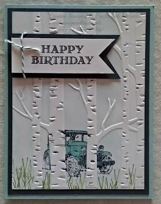 Creative Stamping & Crafts with Margaret: Another Guy Greeting using Stampin' Up! Woodland Textured Impressions Embossing Folder & Guy Greetings Stamp Set