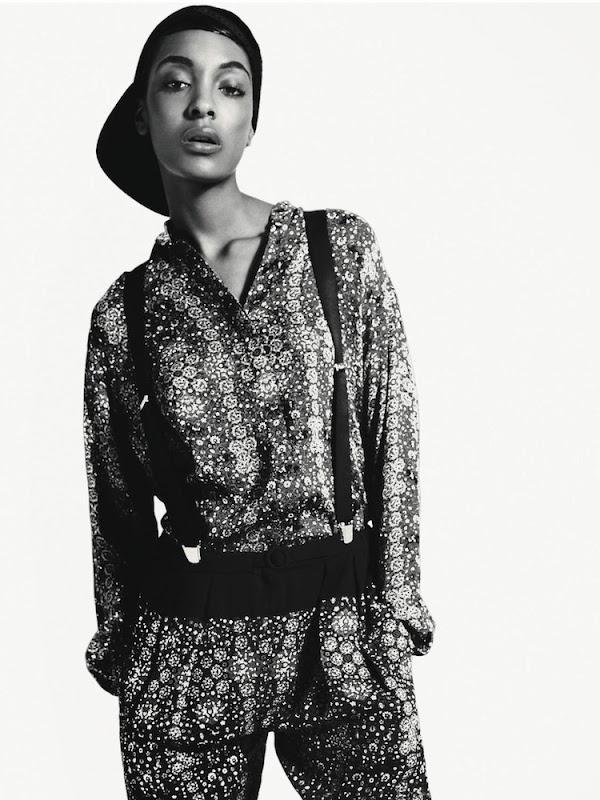 Jourdann Dunn for Vogue Russia, October 2012