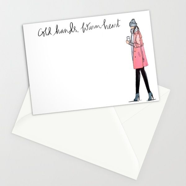 """Cold Hands, Warm Heart notecards.Box set of 10, 5x7"""" notecards with white envelopes.Ships within 5 business days."""