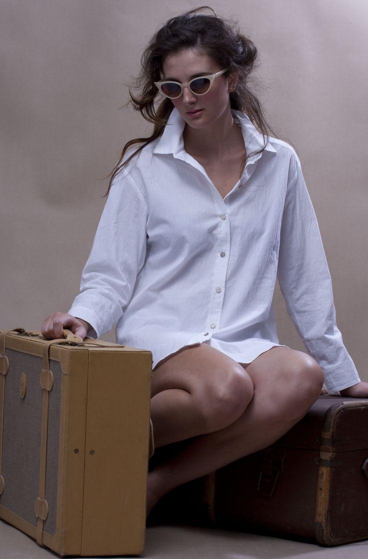 Boyfriend shirt in crisp cotton - WEISS Cape Town