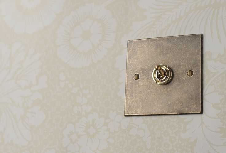 Our simple but classy #dolly #switch in our natural #antiqued #brass finish.