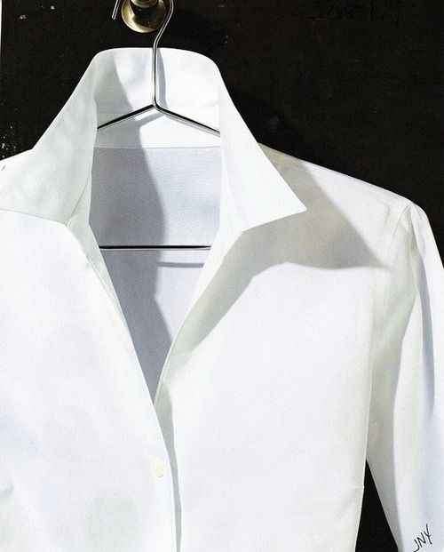 simple, classic white blouse