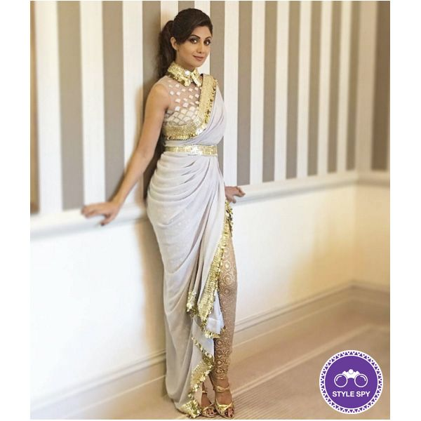 Shilpa Shetty looking like a Dream in #abujanisandeepkhosla Couture. Ain't She a Looker :) #shilpashetty #sochic #voonikstylespy