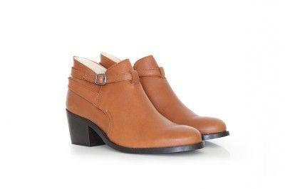 BARBRA - COGNAC #derbies #boots #shoes #women #leather