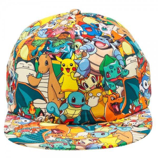 Pokemon All Over Print Snapback