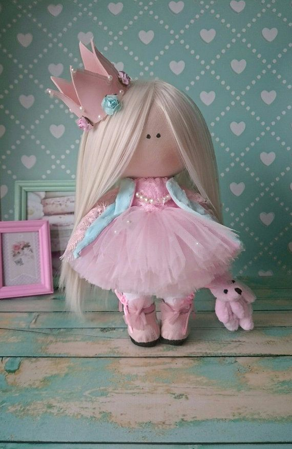 Princess doll Handmade doll Nursery doll Tilda doll Fabric