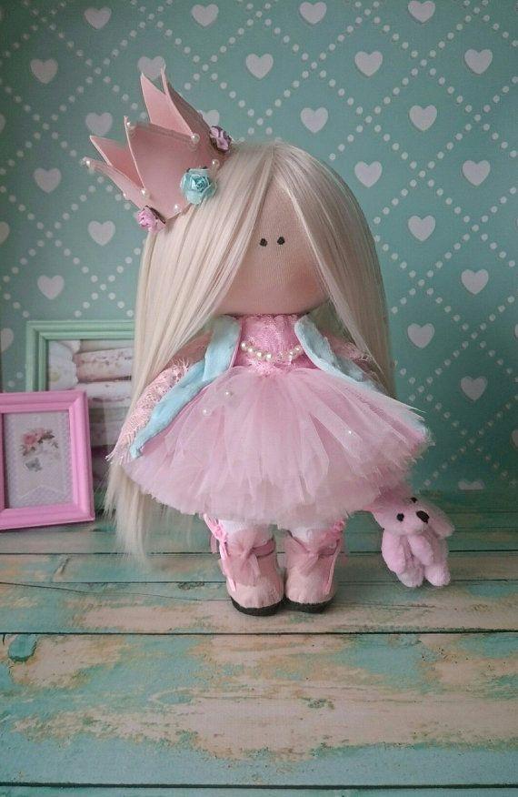 Princesa muñeca hecha a mano vivero muñeca Tilda muñeca tela